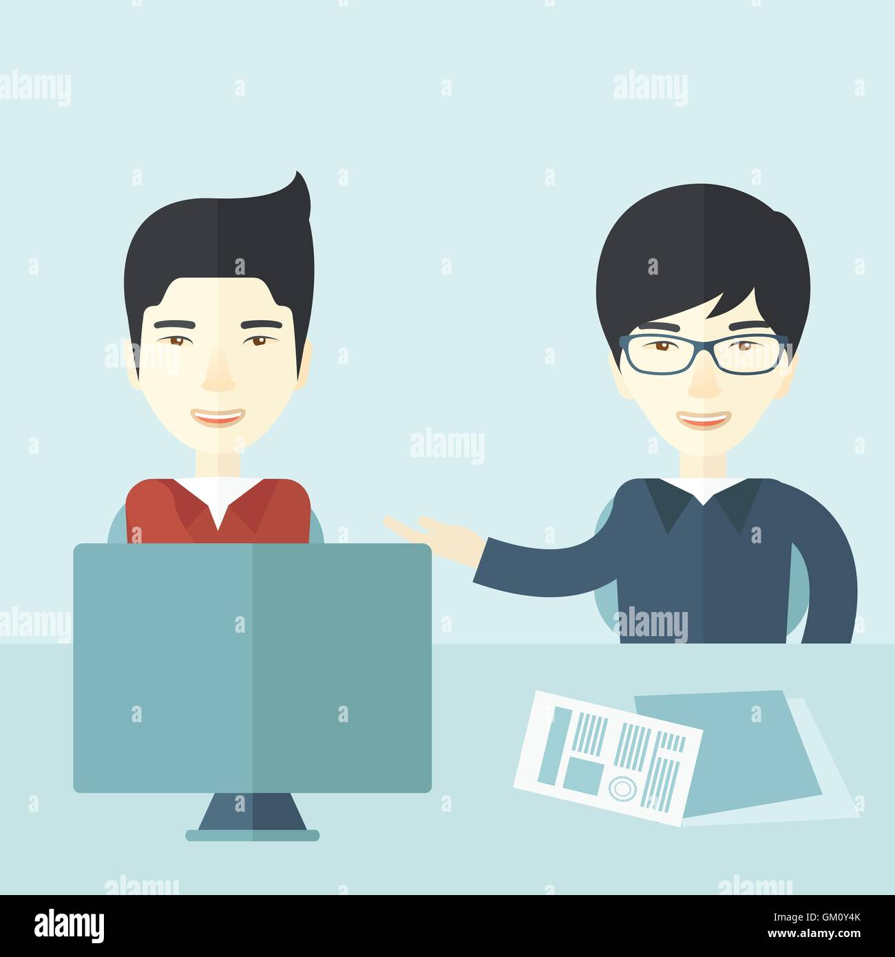 Two professional businessmen - Stock Vector