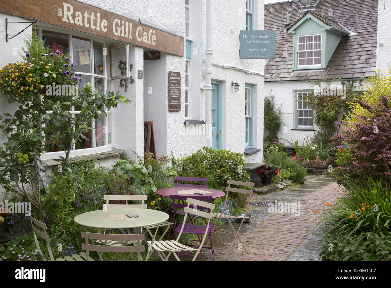 Rattle Grill Cafe; Ambleside; Lake District; England; UK - Stock Image