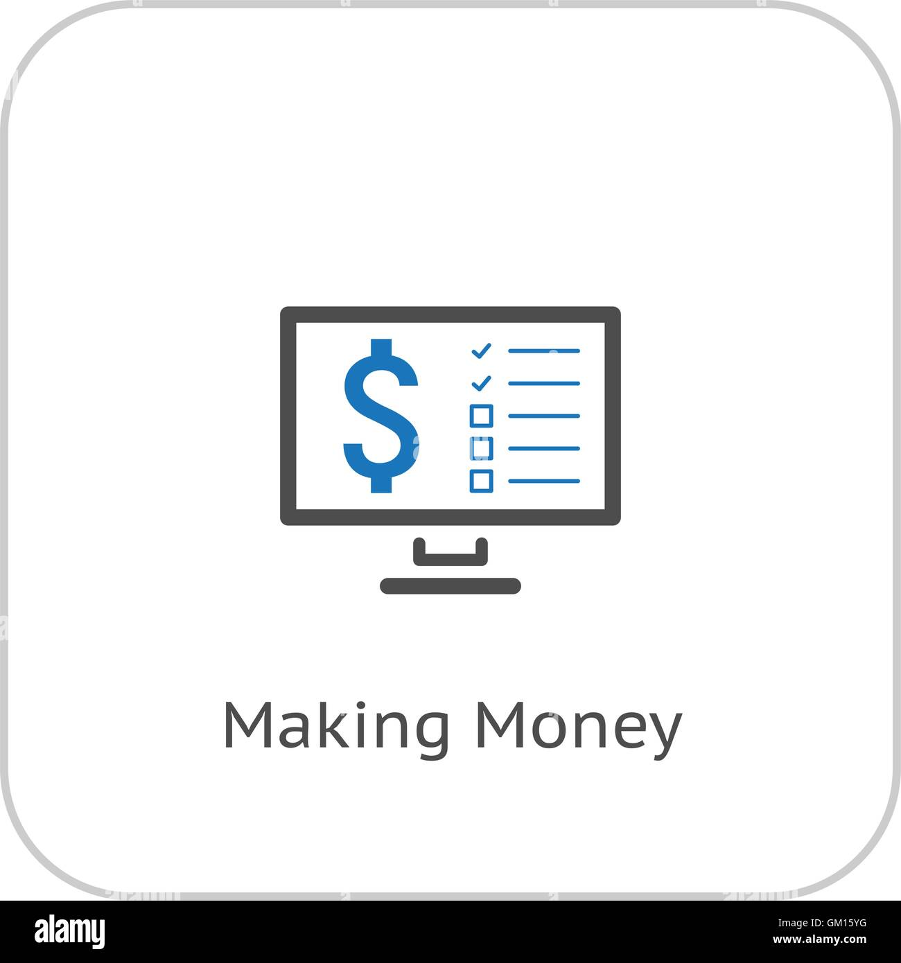 Making Money Icon. Business Concept. Flat Design. - Stock Image