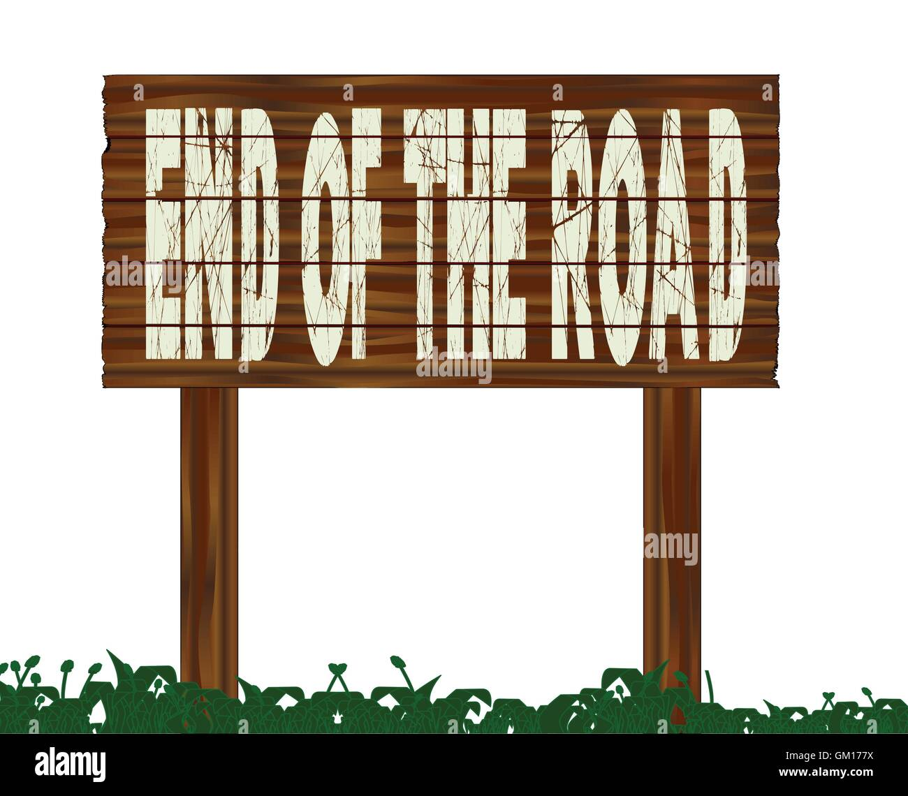 End Of The Road - Stock Image