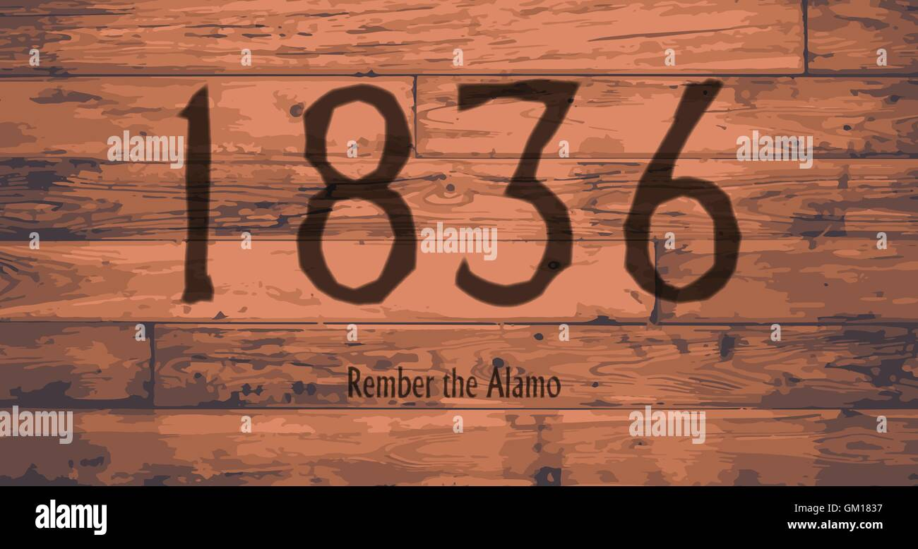 1836 The Alamo Date Brand - Stock Image