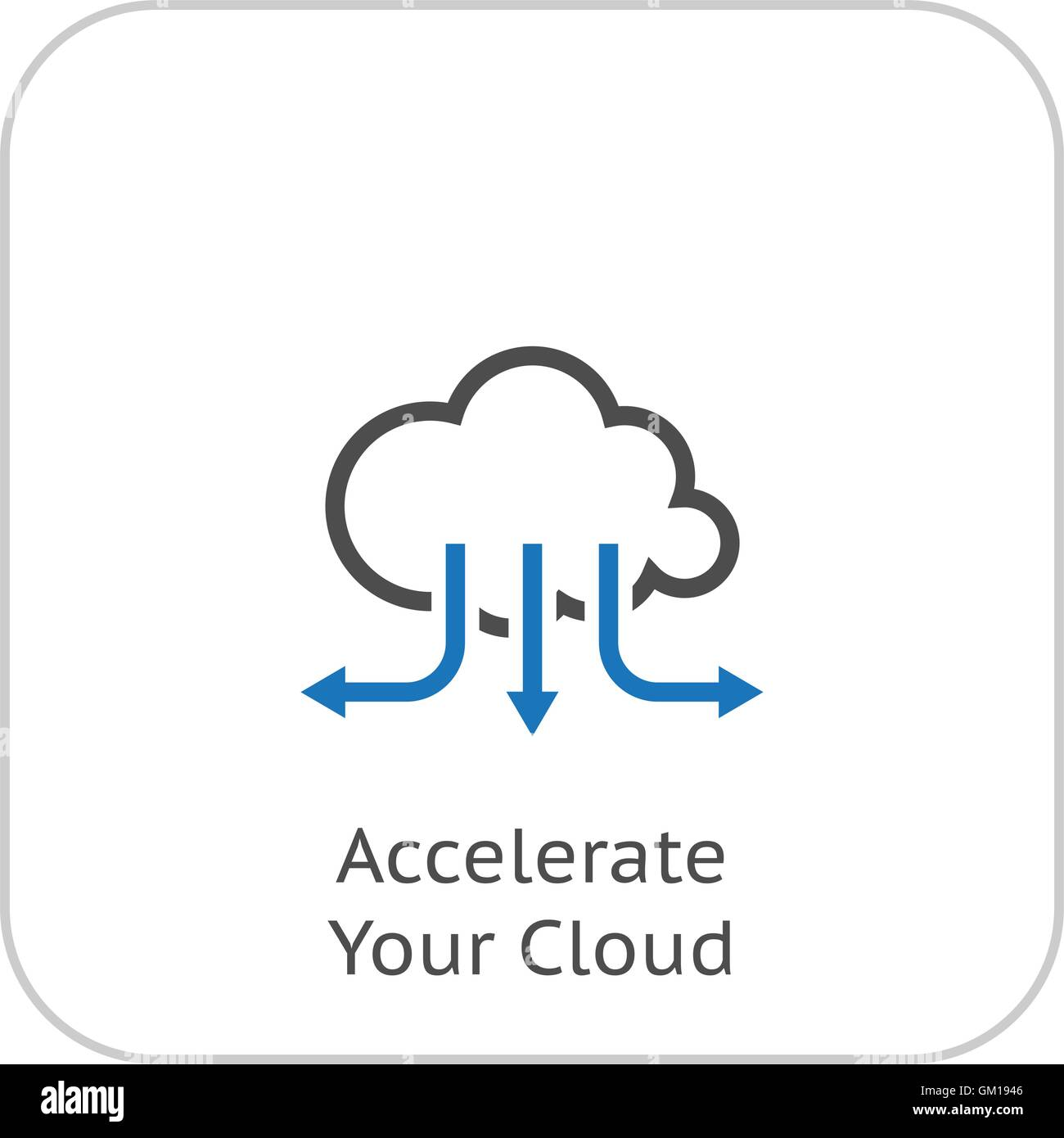 Accelerate Your Cloud Icon. Business Concept. Flat Design. Stock Vector