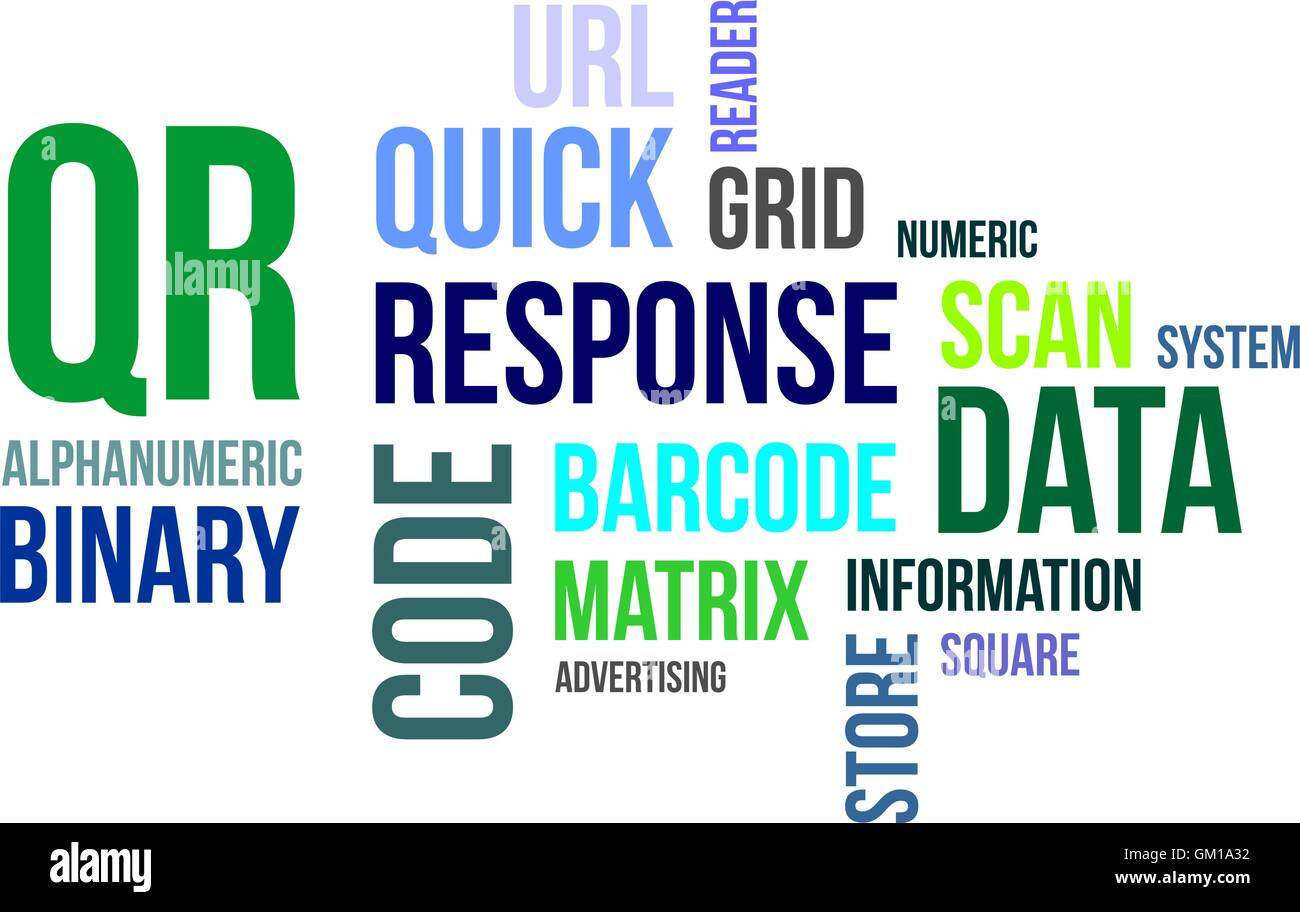 word cloud - qr code Stock Vector Art & Illustration, Vector Image