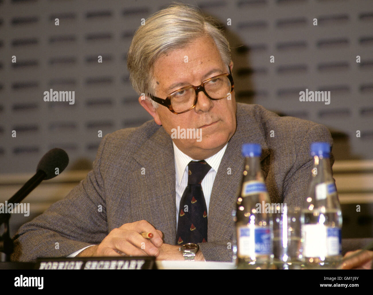 GEOFFREY HOWE  Baron Howe of Aberavon Conservative Politician and Deputy Prime minister - Stock Image