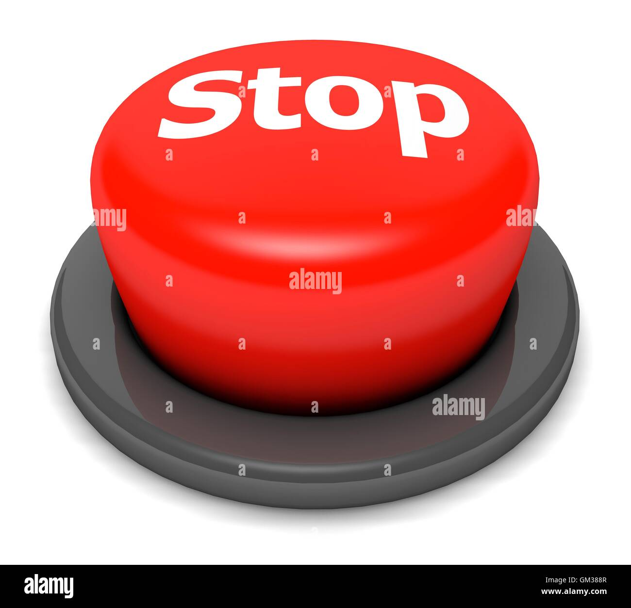 Stop Button - Stock Image