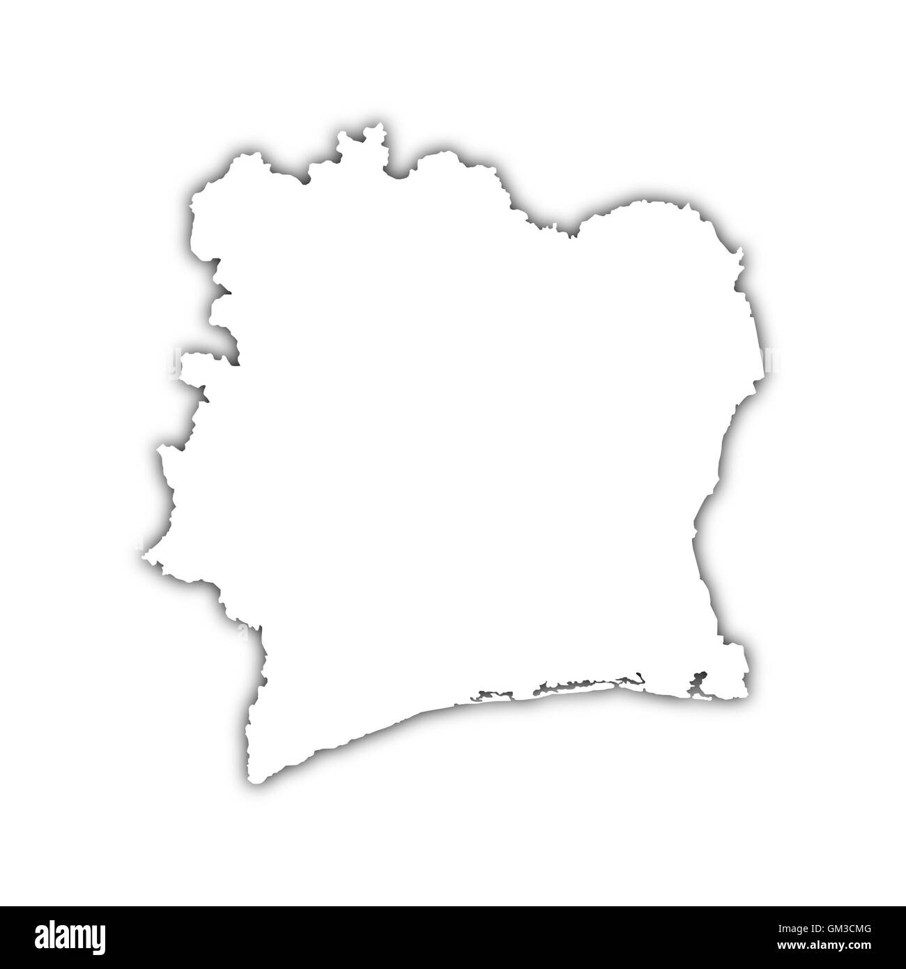 map of c�te d'ivoire - Stock Image