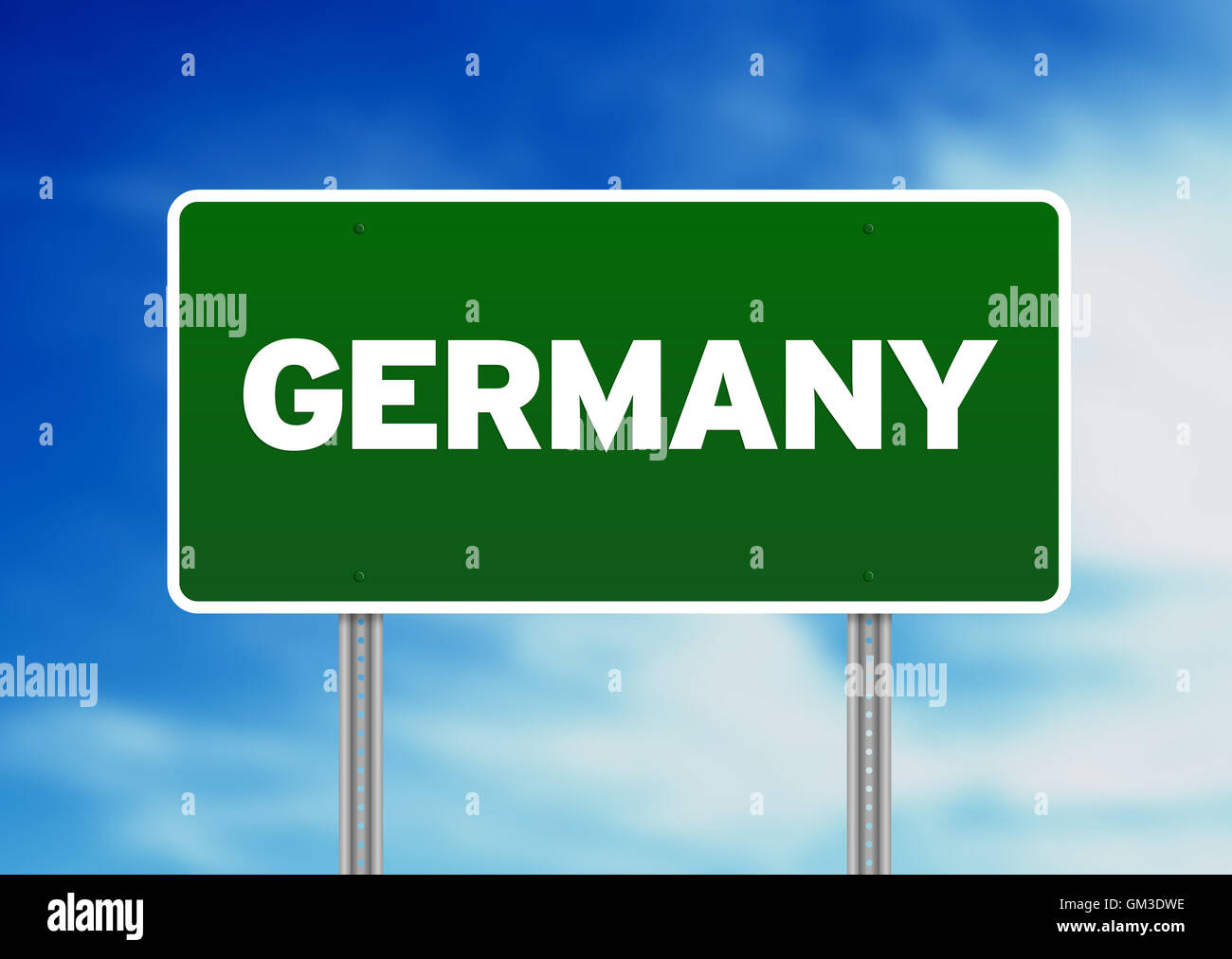 Germany Highway  Sign - Stock Image