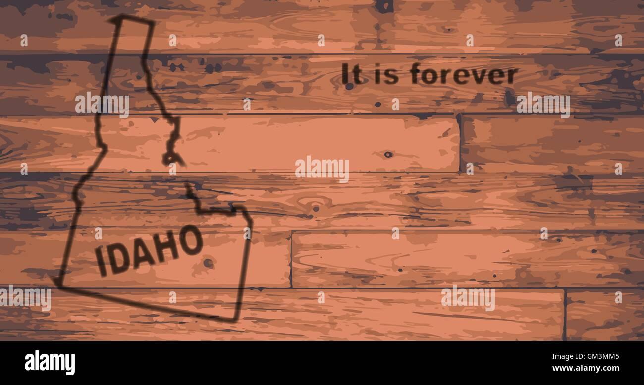 Idaho Map Brand - Stock Vector
