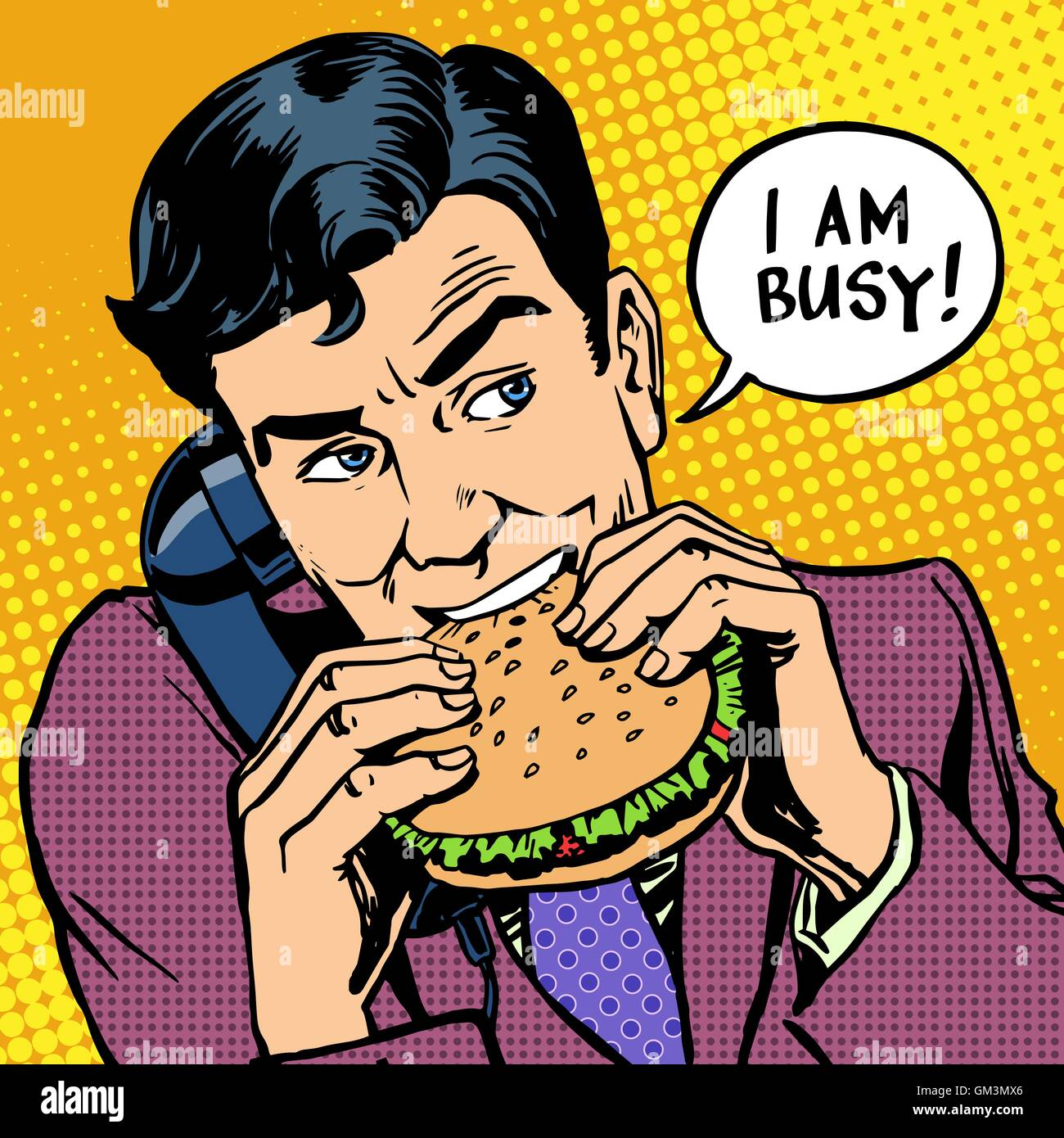 Cartoon Man Eating Burger Stock Photos Cartoon Man Eating Burger