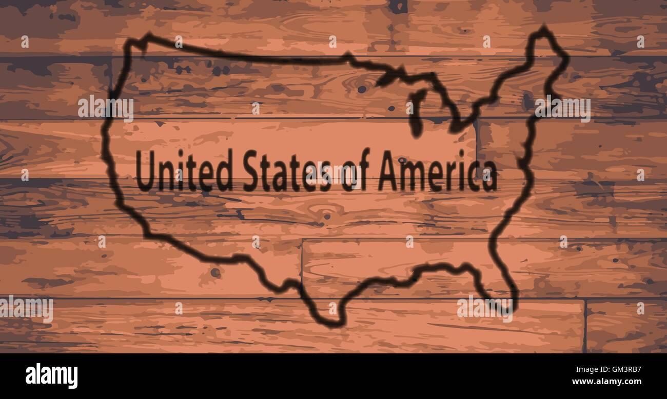 USA Map Brand - Stock Image
