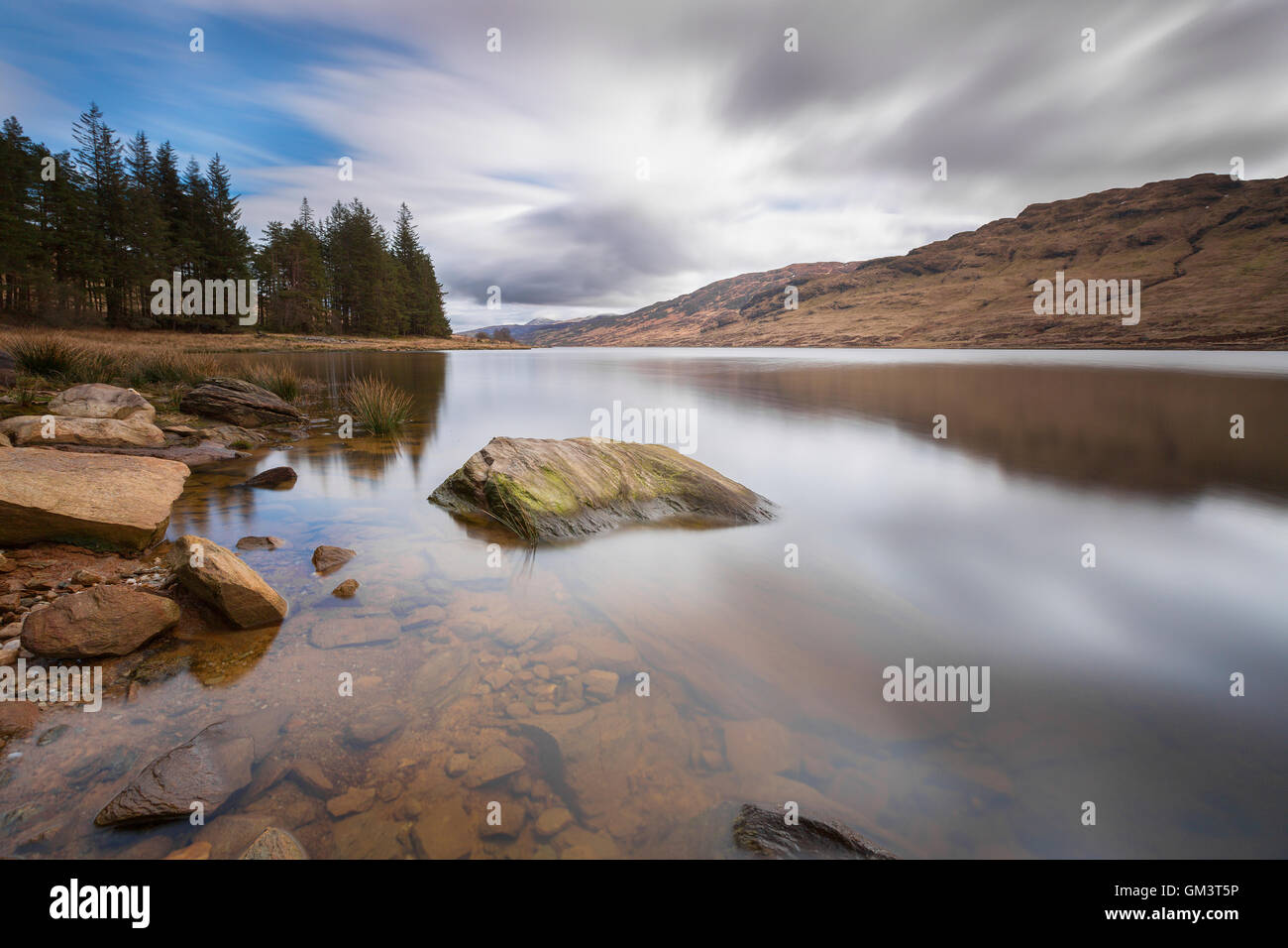 Loch Arklet on a breezy day. - Stock Image