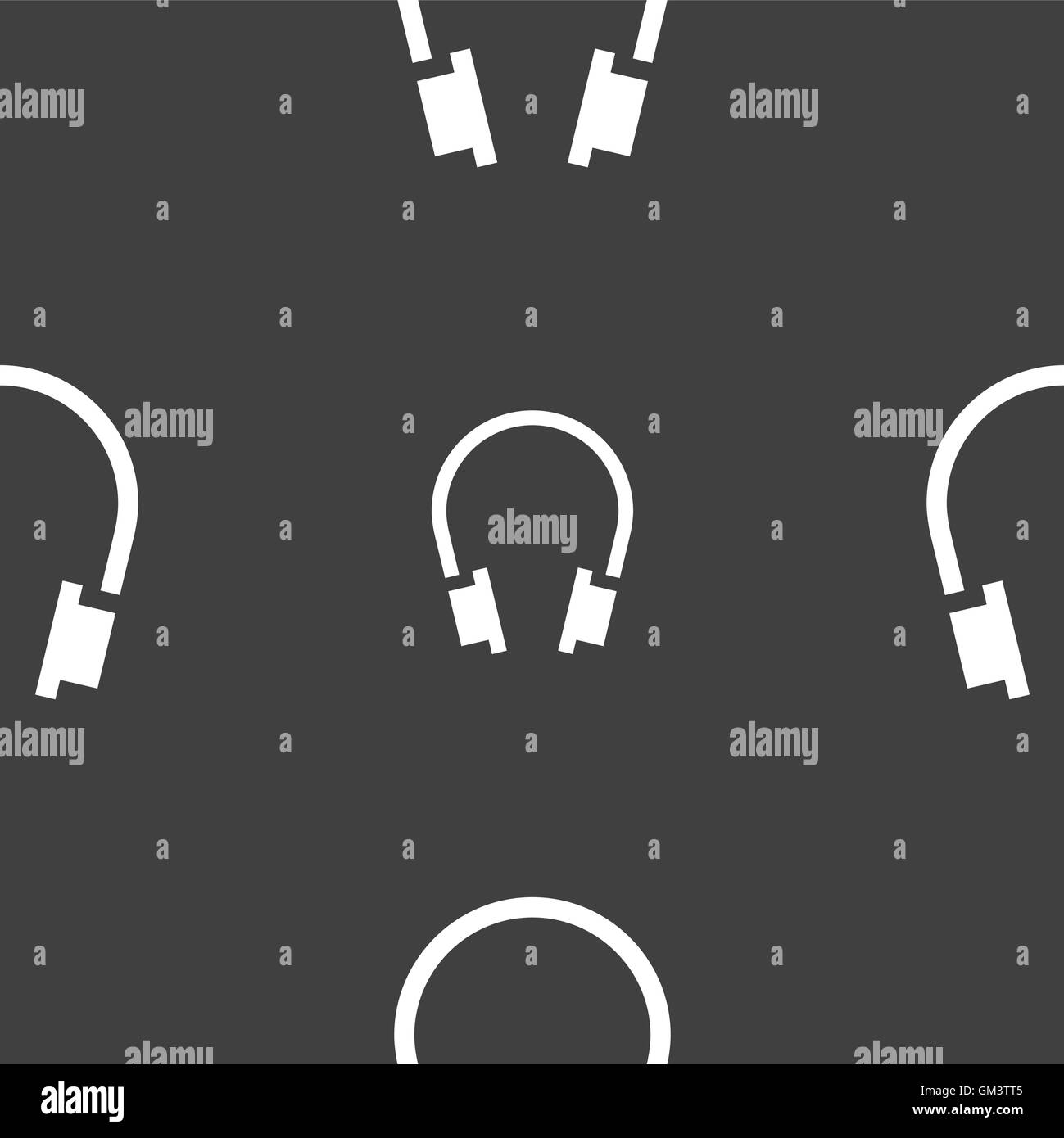 headsets icon sign. Seamless pattern on a gray background. Vector Stock Vector