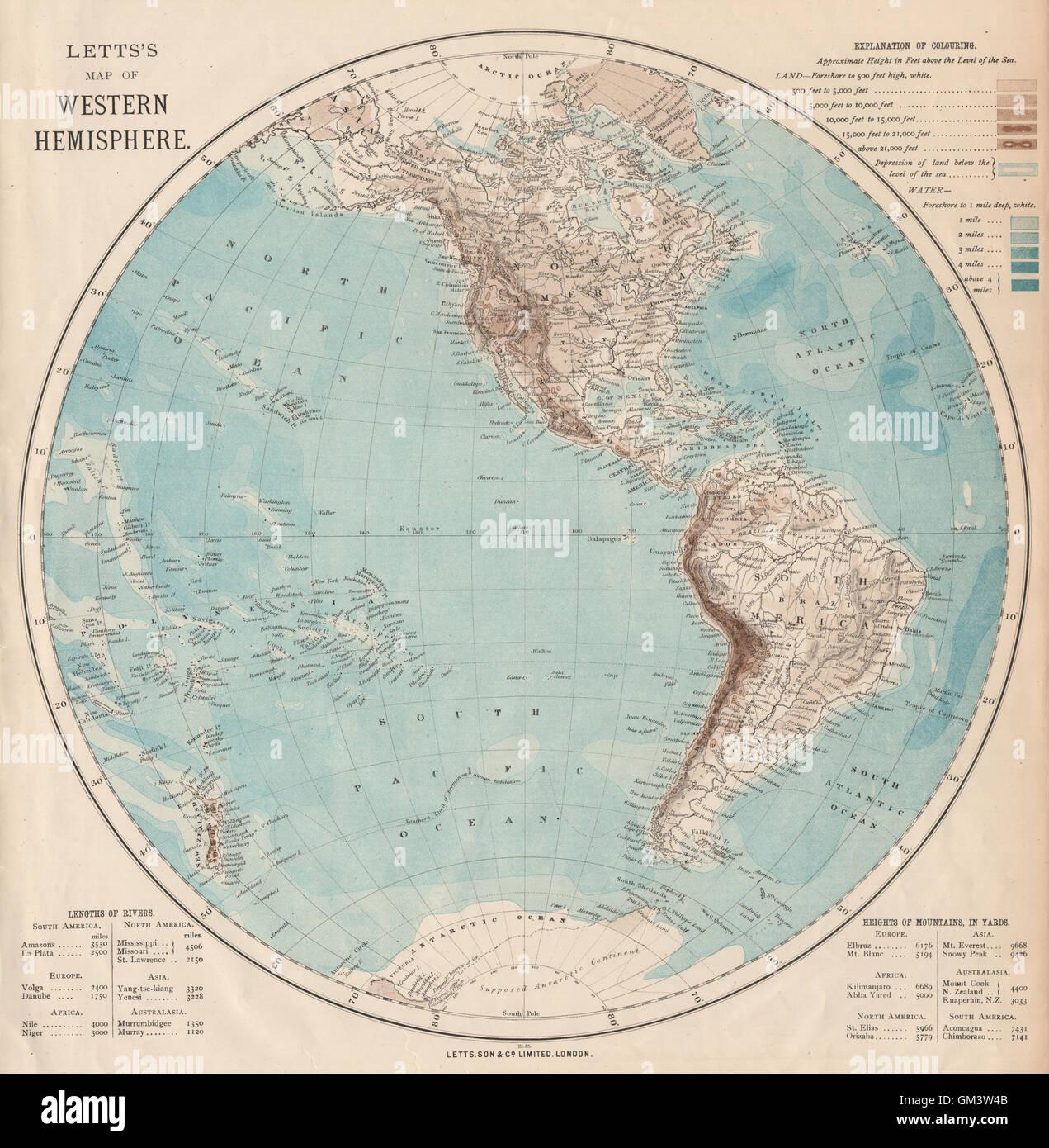 Western hemisphere the americas pacific ocean new zealand letts western hemisphere the americas pacific ocean new zealand letts 1889 map gumiabroncs Gallery