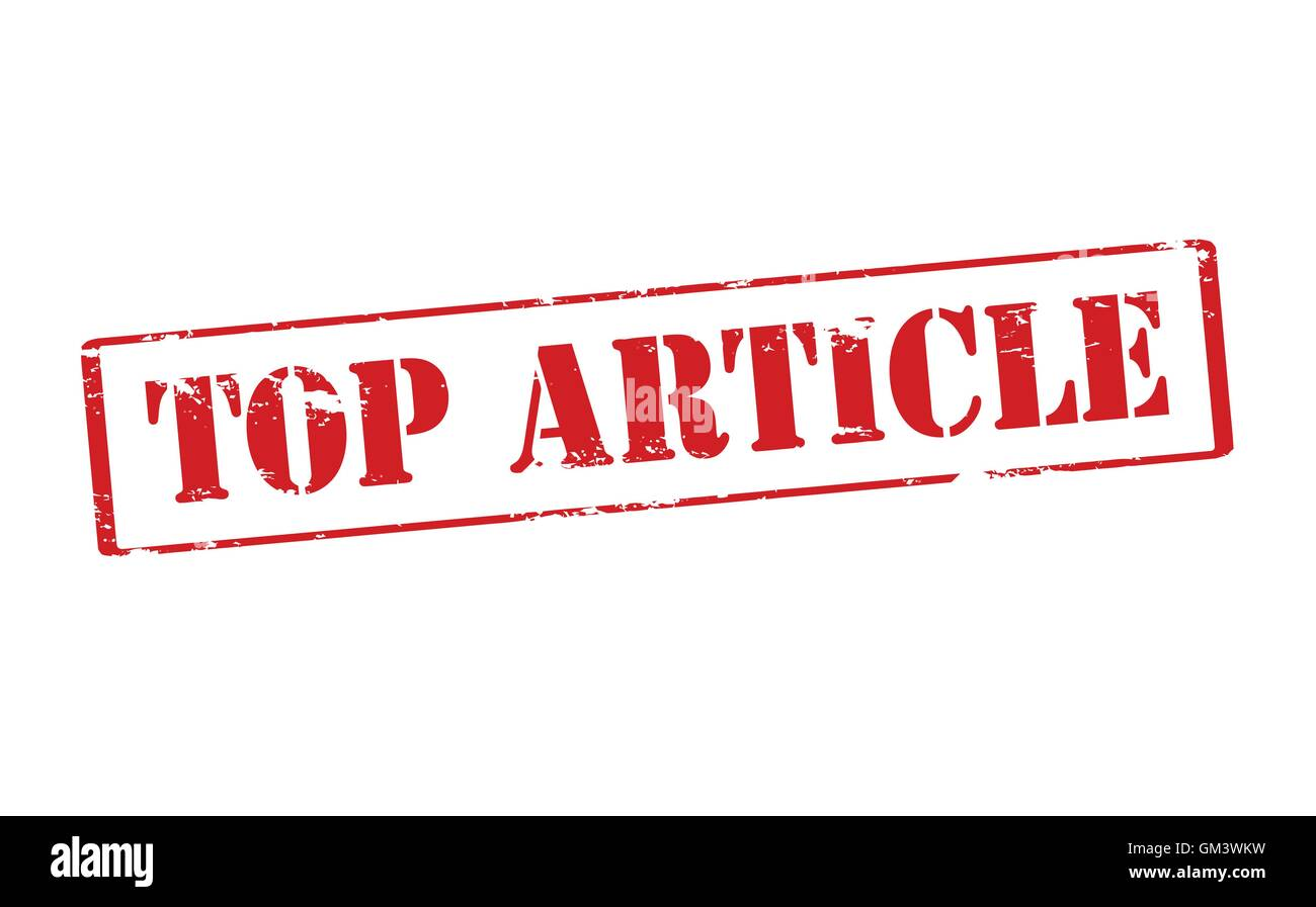 Top article Stock Vector