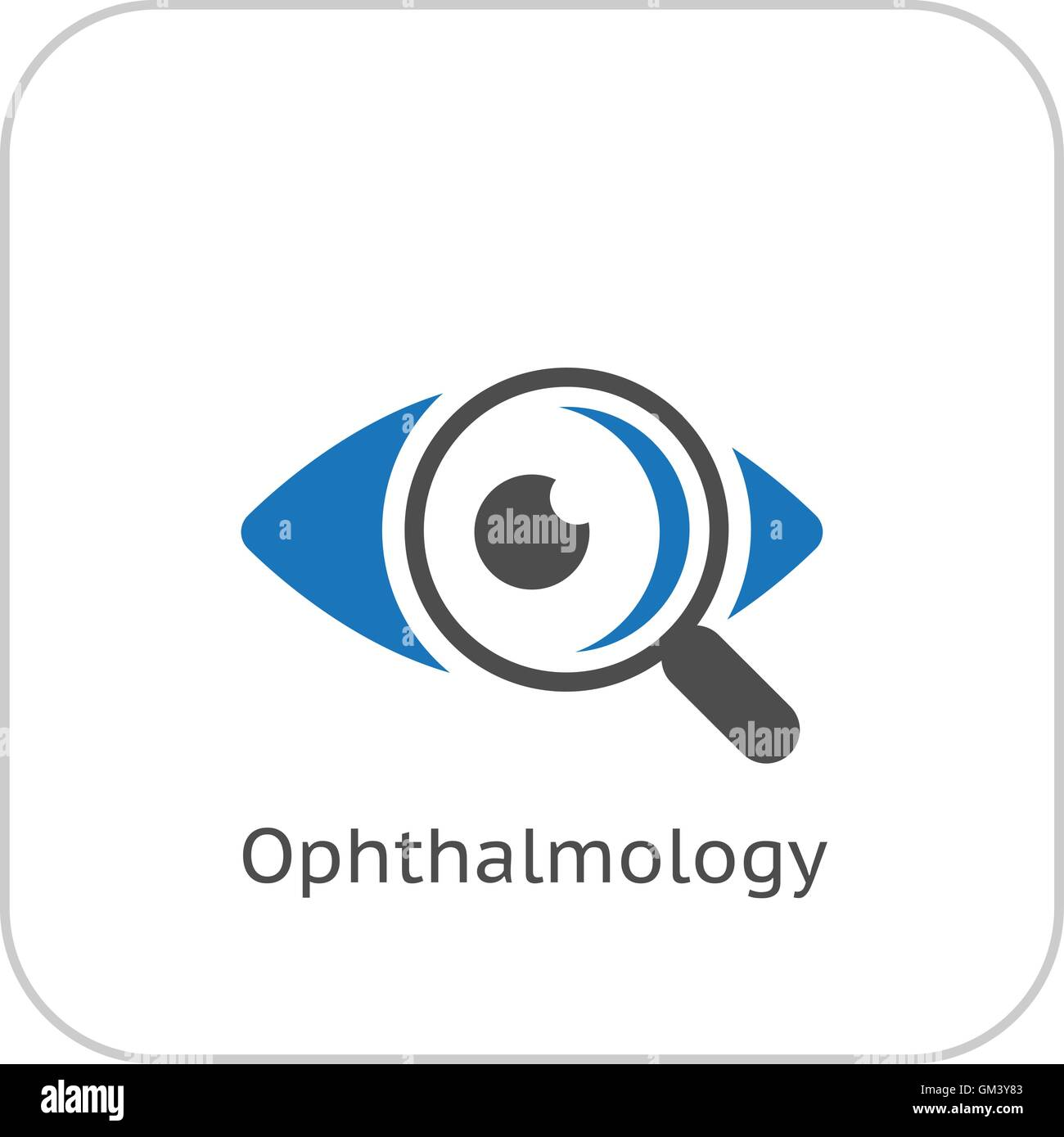 Ophthalmology and Medical Services Icon. Flat Design. - Stock Image