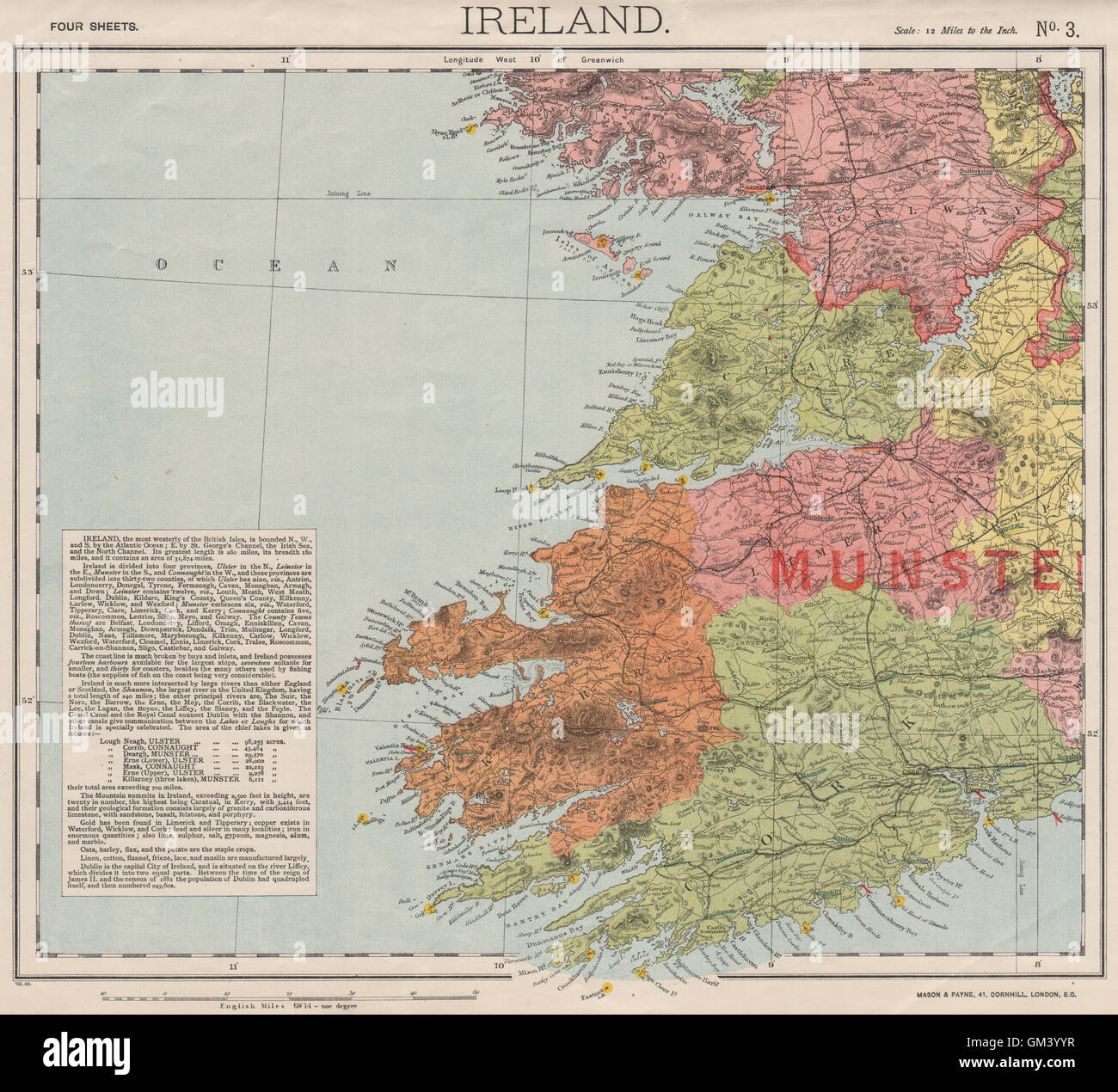 Lighthouses In Ireland Map.Sw Ireland Munster Lighthouses Lifeboat Stations Round Towers