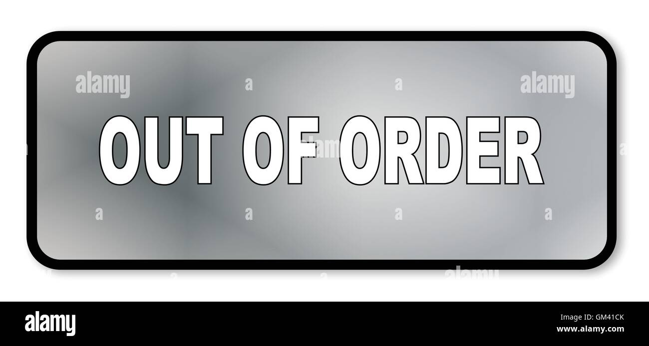 Out Of Order - Stock Vector