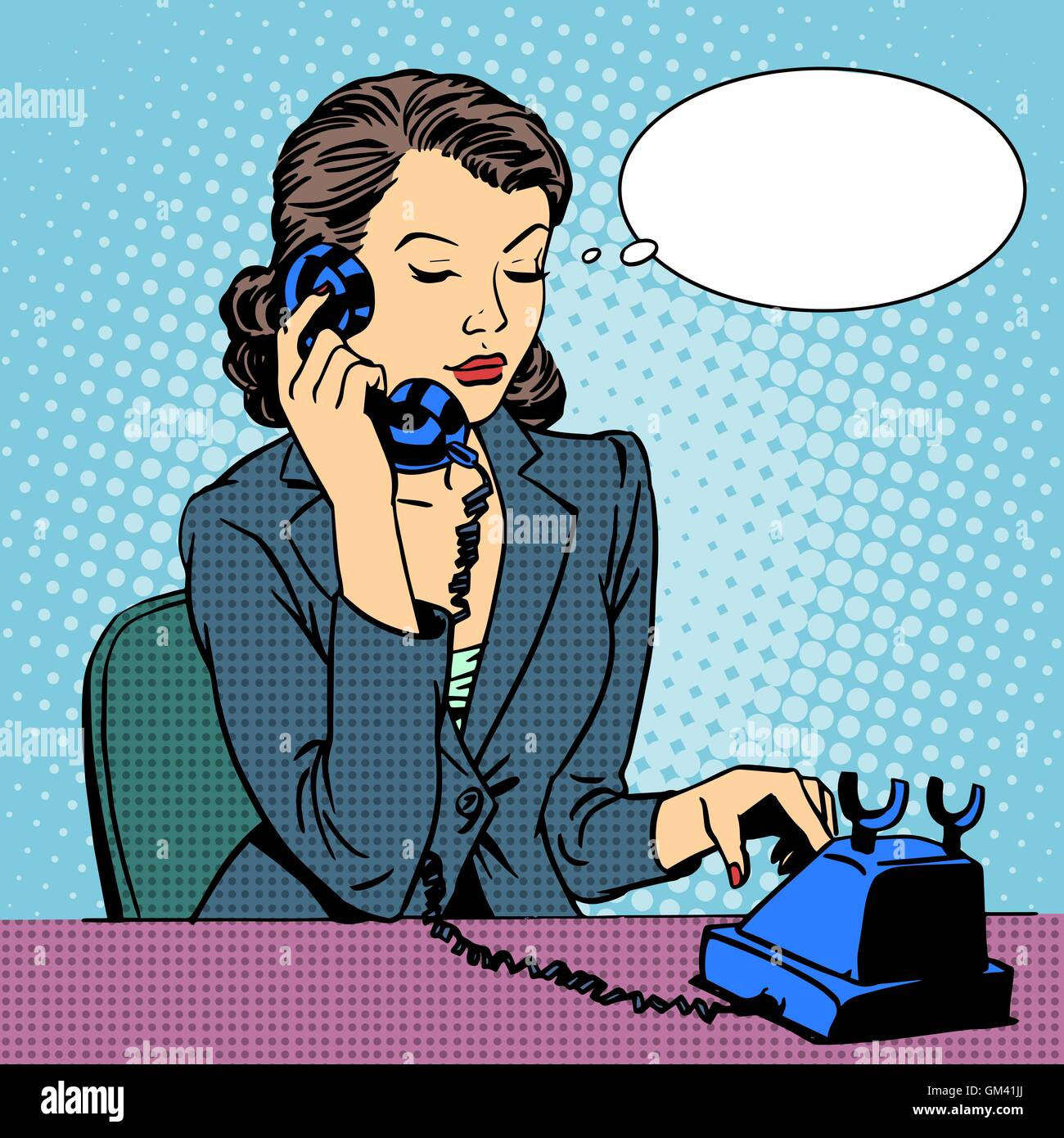 Business woman talking phone - Stock Vector