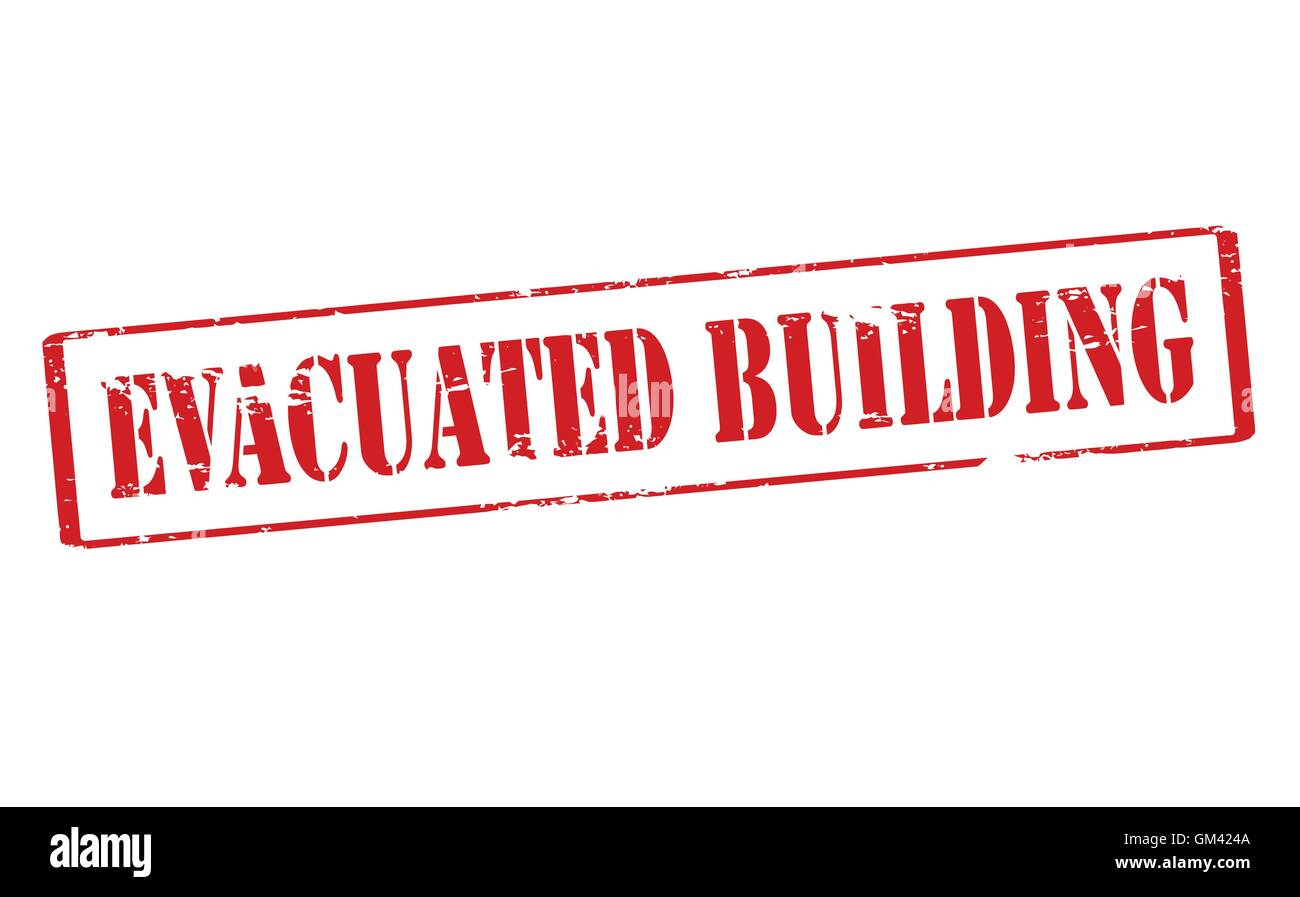 Evacuated building - Stock Vector