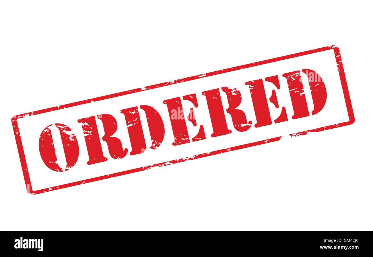 Ordered - Stock Vector