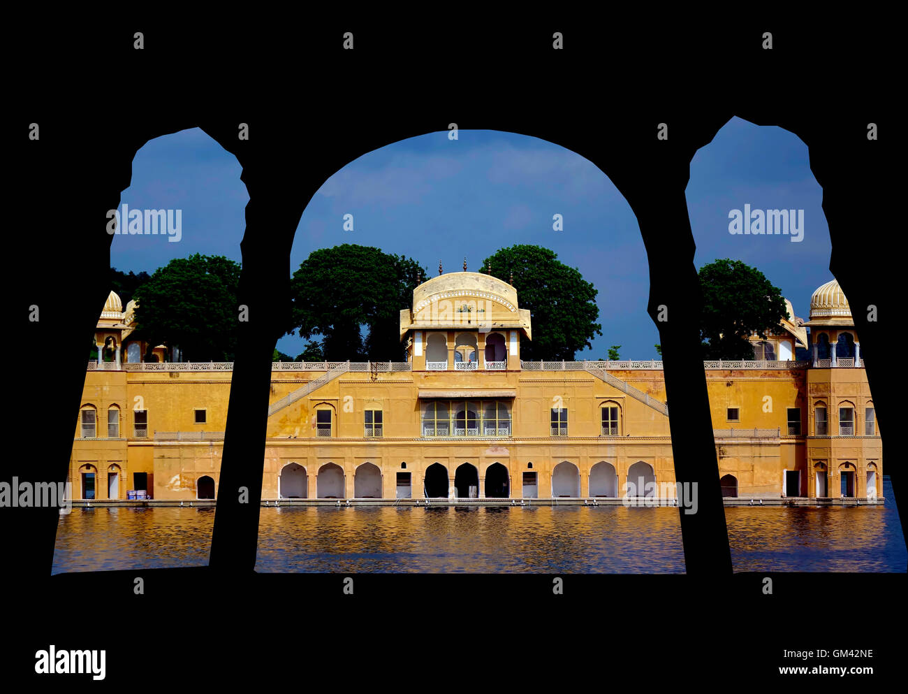 Major Tourist Spots in Jaipur, Rajasthan, India - Stock Image
