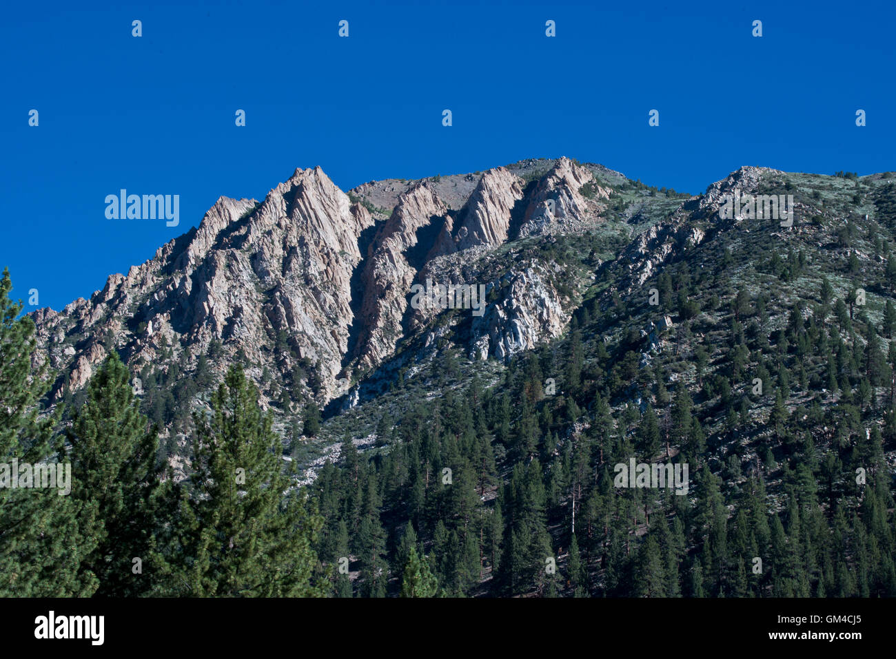 Mountain formation on the Benson Lake Loop trail in the