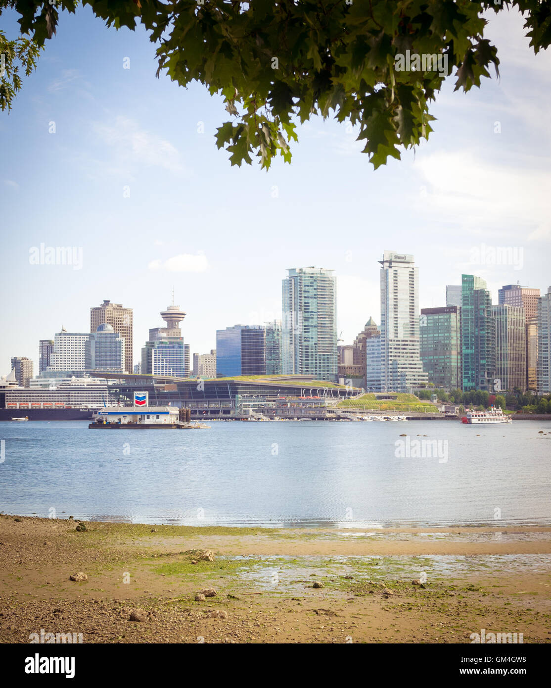 Downtown Vancouver: The Beautiful Skyline Of Downtown Vancouver, British