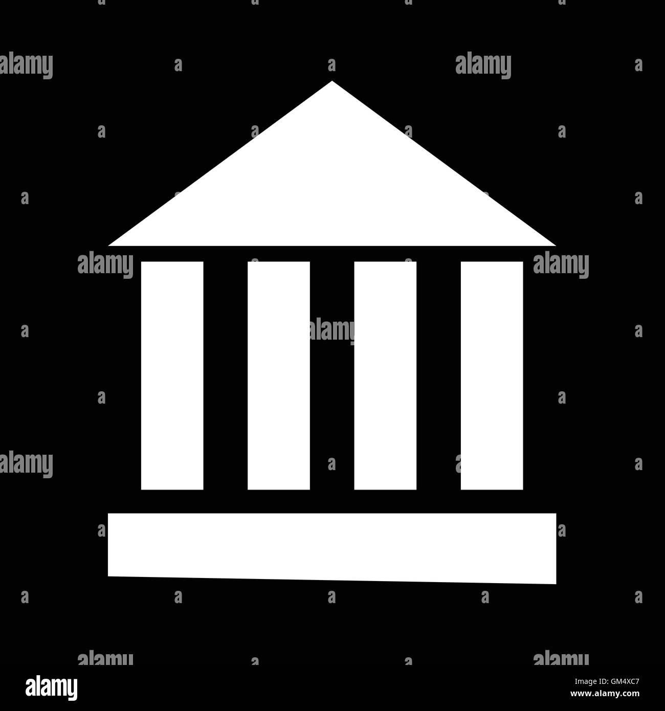 Monument Temple Column Icon Illustration design - Stock Vector