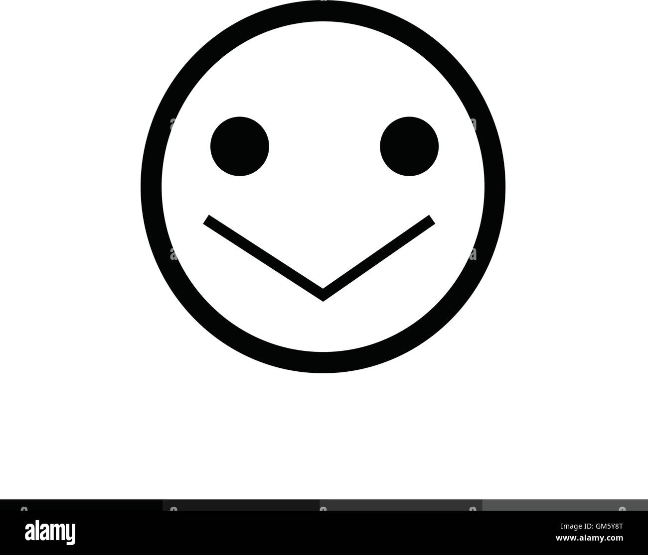 emoticon icon illustration design stock image