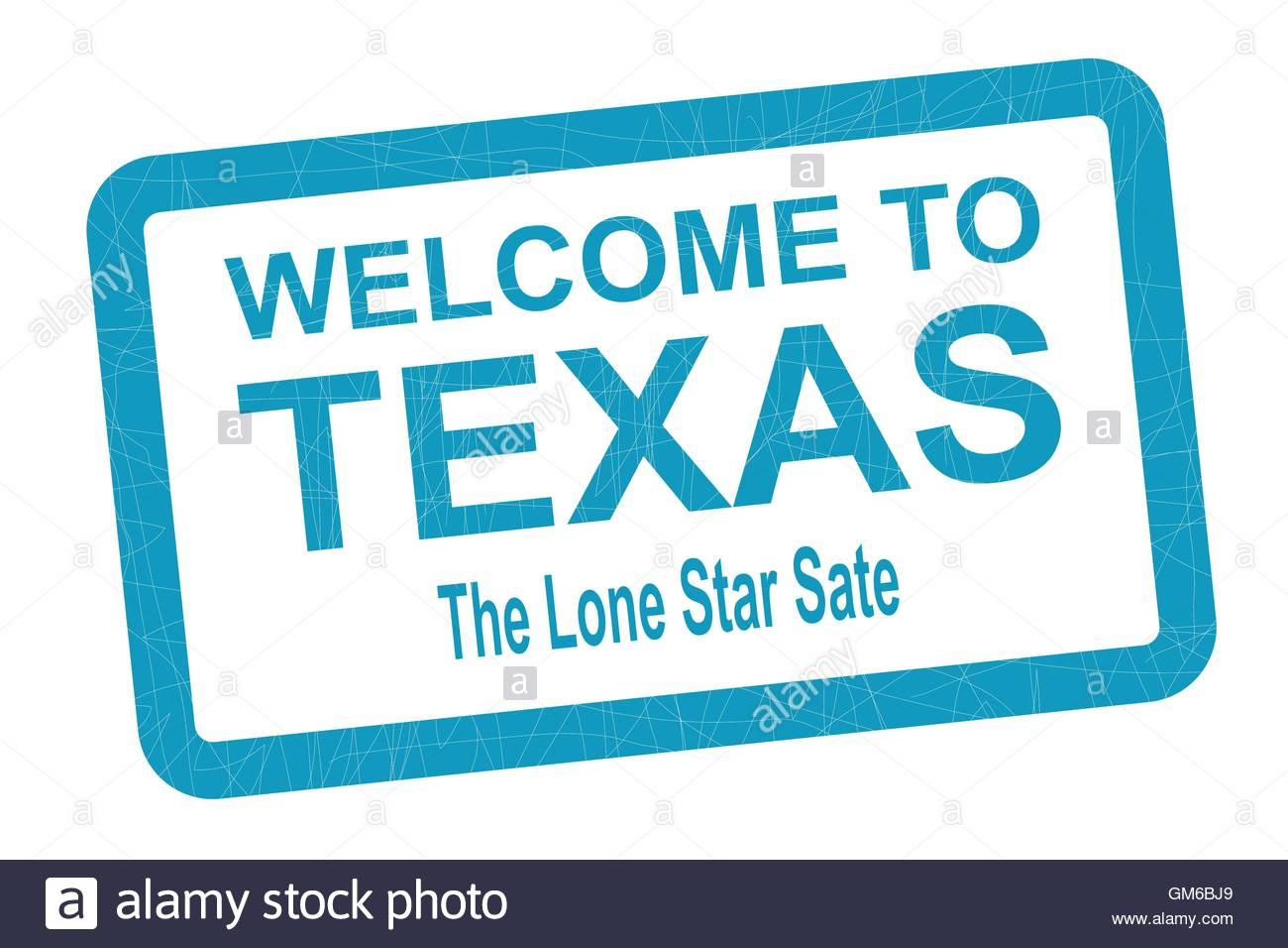 Welcome To Texas - Stock Image