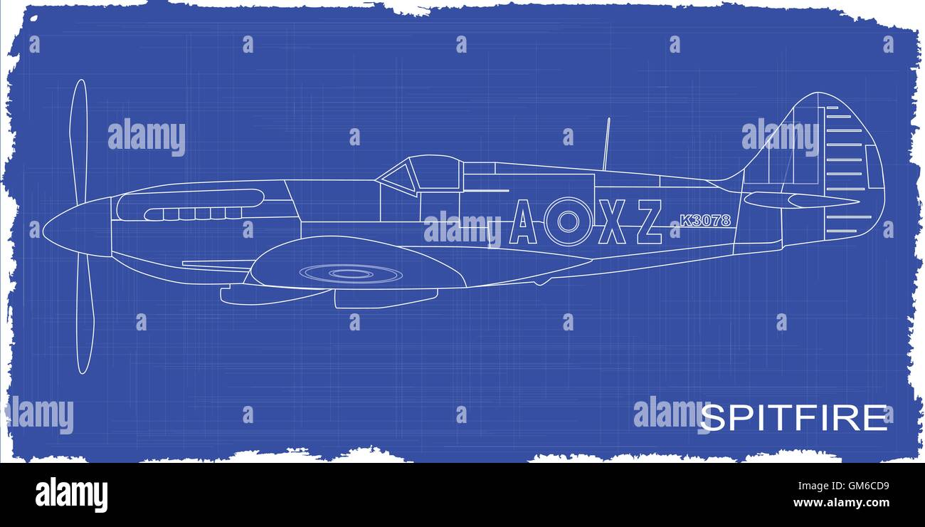 Fighter plane blueprint stock vector art illustration vector fighter plane blueprint malvernweather Choice Image