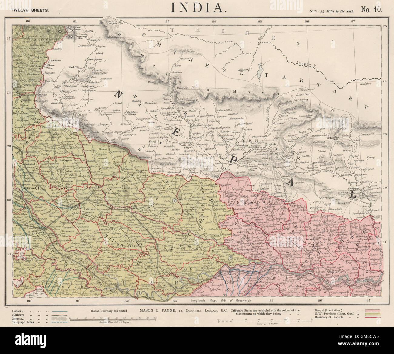 India Map Ganges Stock Photos India Map Ganges Stock Images Alamy