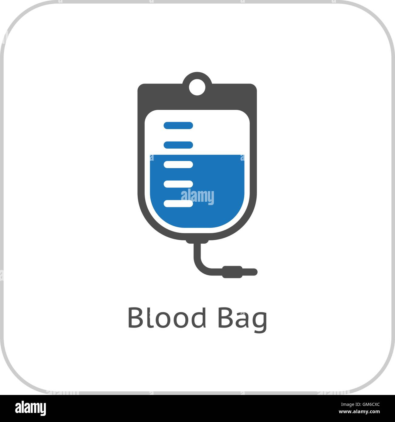 Blood Bag and Medical Services Icon. Flat Design. - Stock Vector
