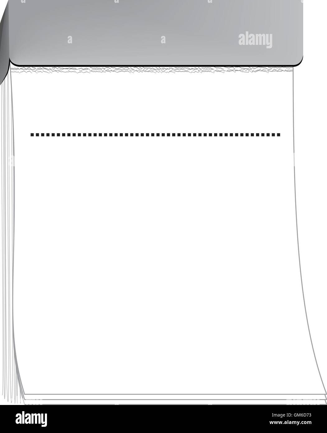 blank tear off calendar - Stock Image