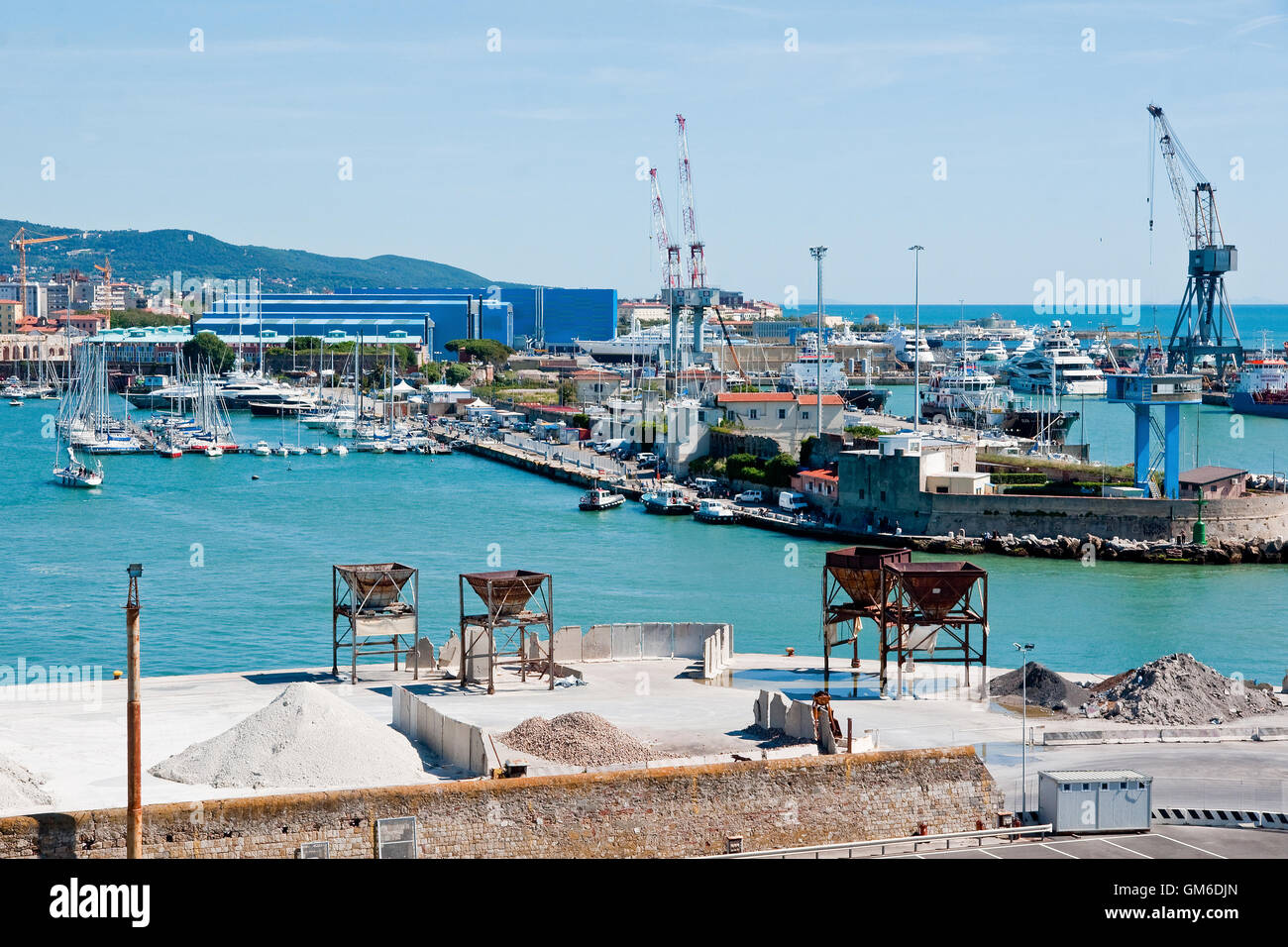 Port of Livorno, Italy - Stock Image