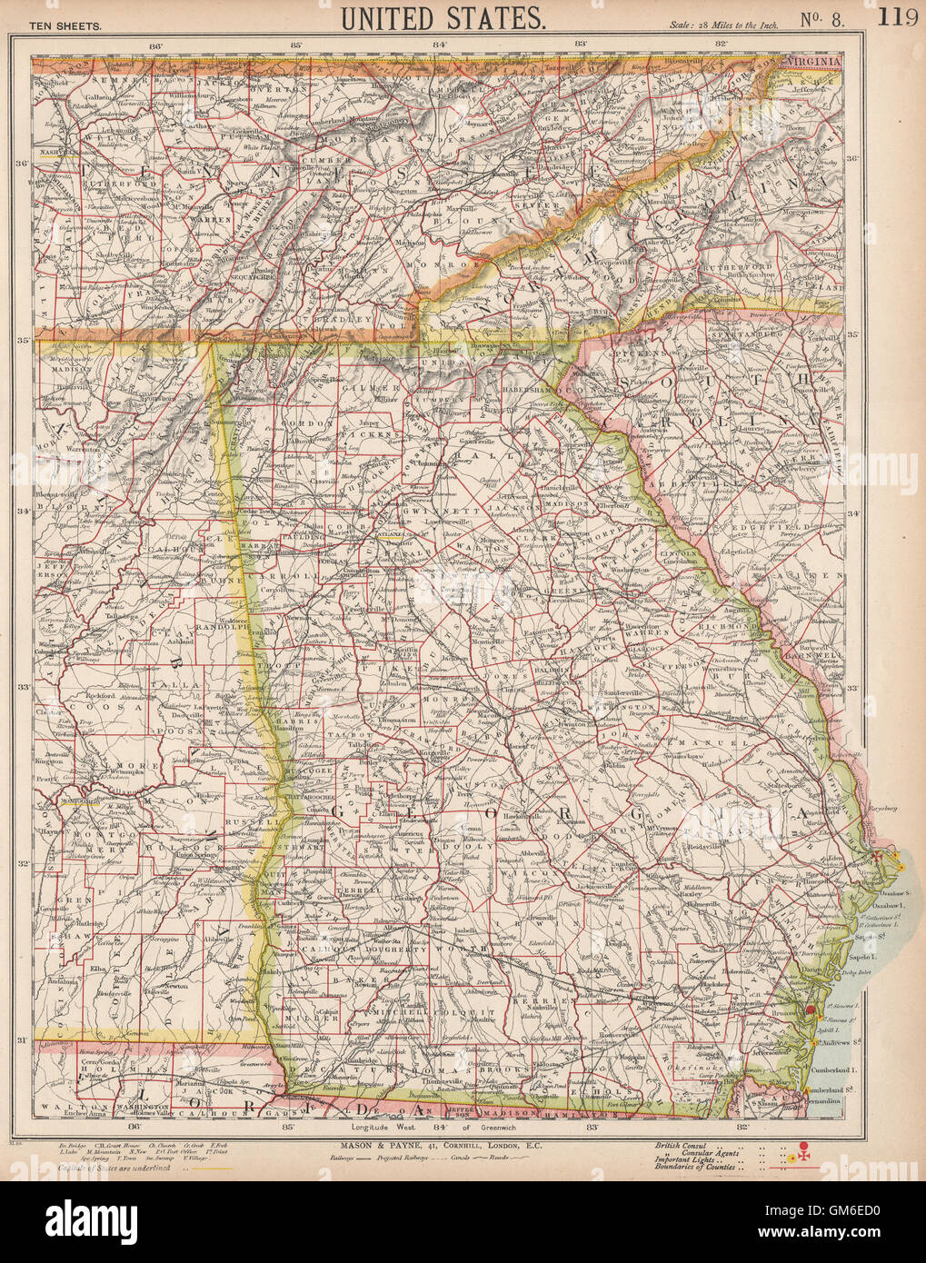 Georgia Southern Appalachia Alabama Tennessee Nc Sc Railroads