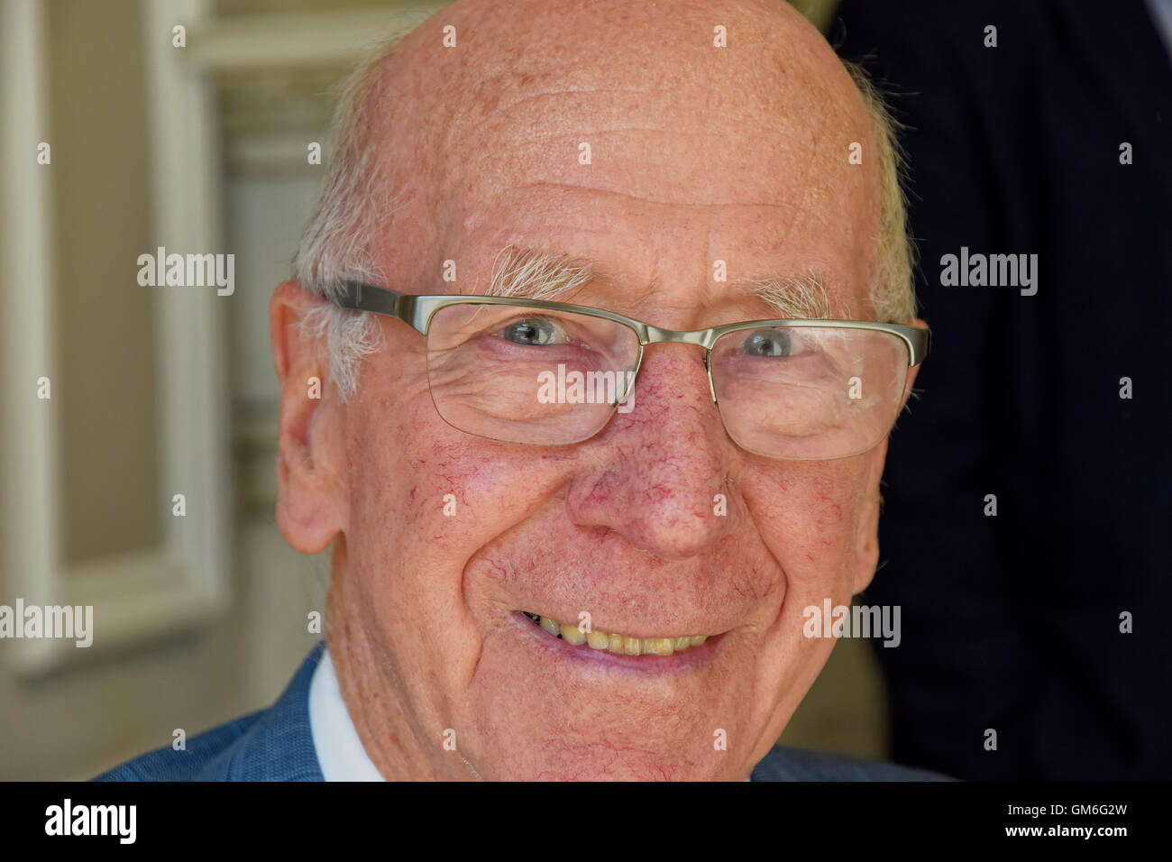 Sir Bobby Charlton, Director of Manchester United Football Club and former Manchester United and England footballer - Stock Image