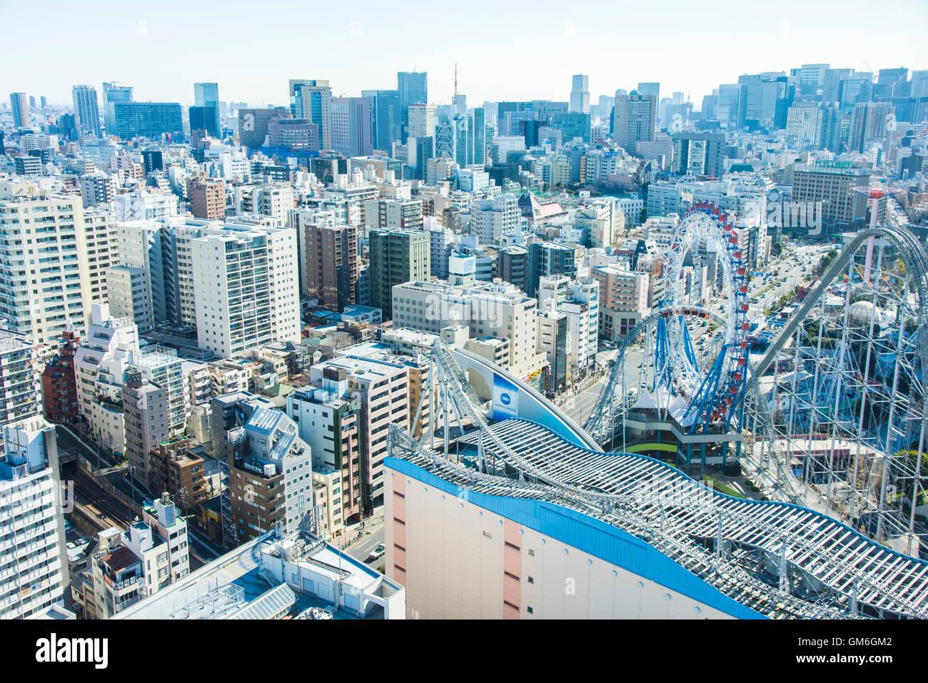 Tokyo Dome City Attractions , Bunkyo-Ku, Tokyo, Japan - Stock Image