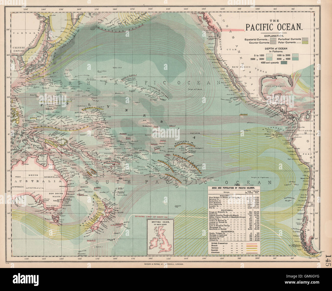 Pacific Ocean Currents British French German Us Spanish Colonies - Pacific-ocean-on-us-map