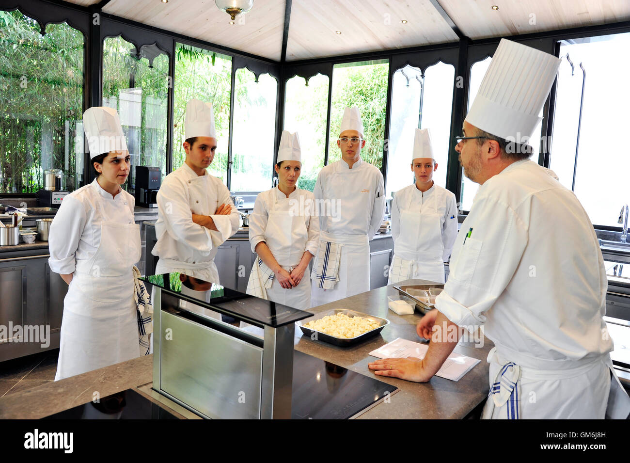 Cookery school at Eugénie-les bains, France - Stock Image