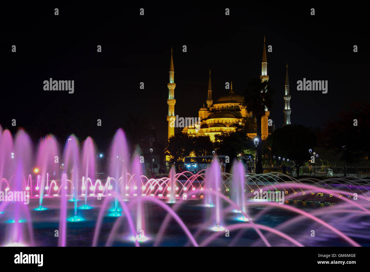 Sultan Ahmed Mosque is a historic mosque located in Istanbul, Turkey. - Stock Image