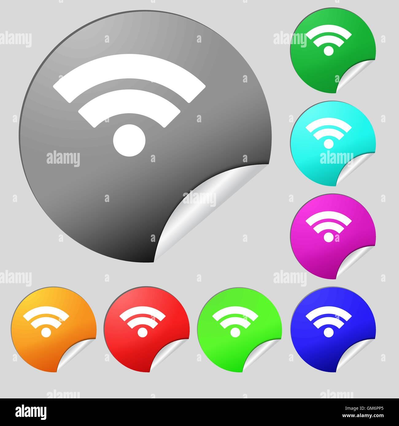 Wifi Sign Wi Fi Symbol Wireless Network Icon Wifi Zone Set Of