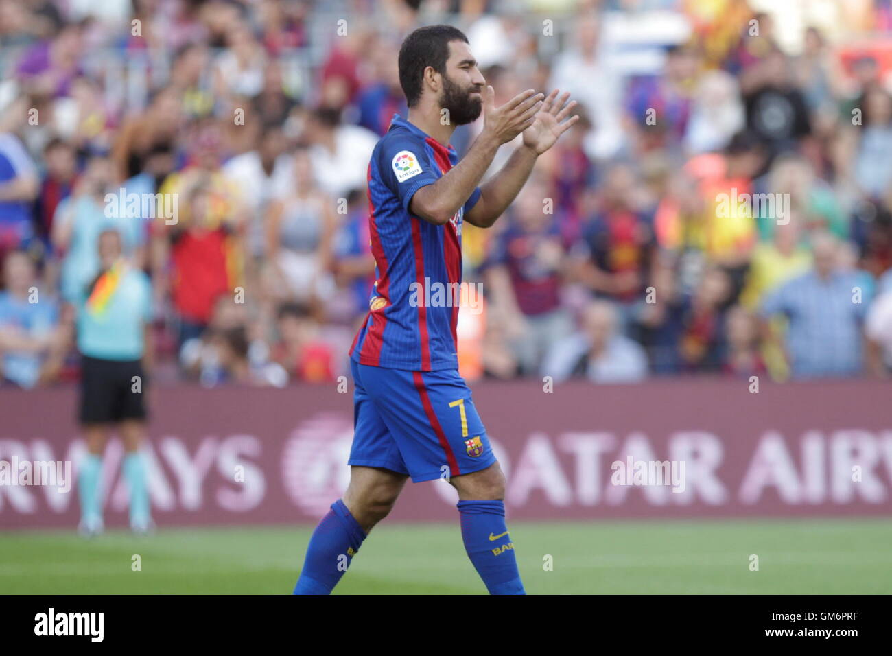 08/20/2016. Camp Nou, Barcelona, Spain. Arda Turan  in action during the Spanish liga match FC Barcelona - betis - Stock Image