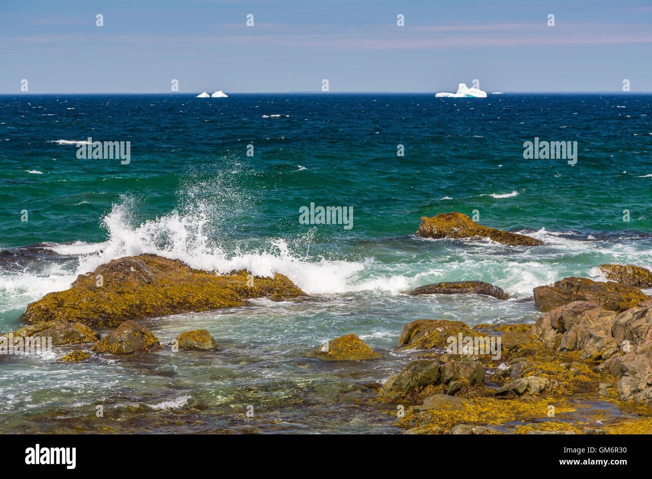 The rugged Cape Bonavista coastline at Bonavista, Newfoundland and Labrador, Canada. - Stock Image
