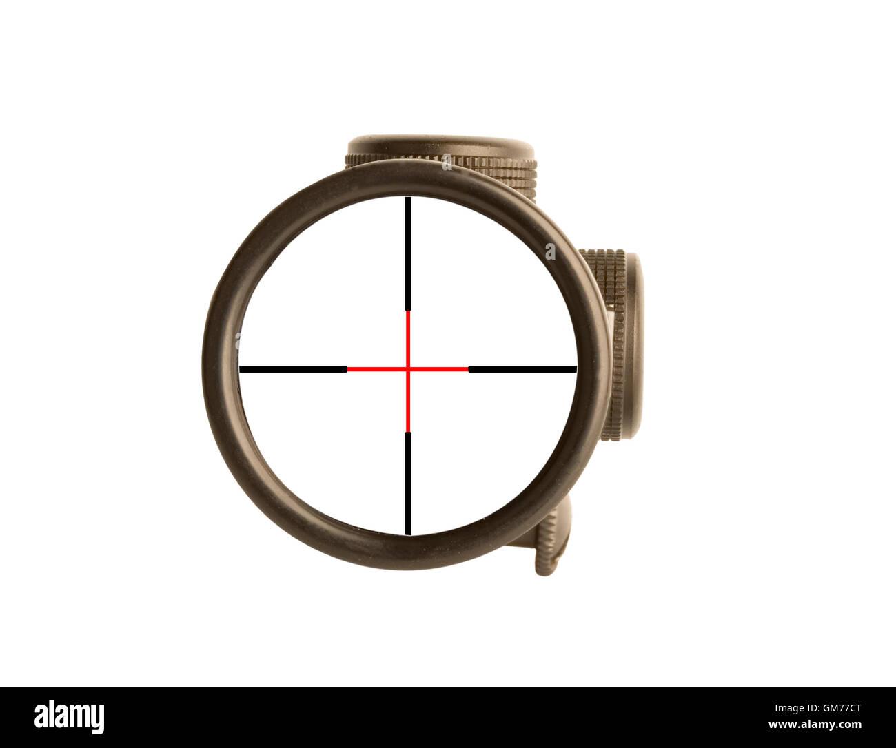 Icon concept rifle scope stock image - Stock Image