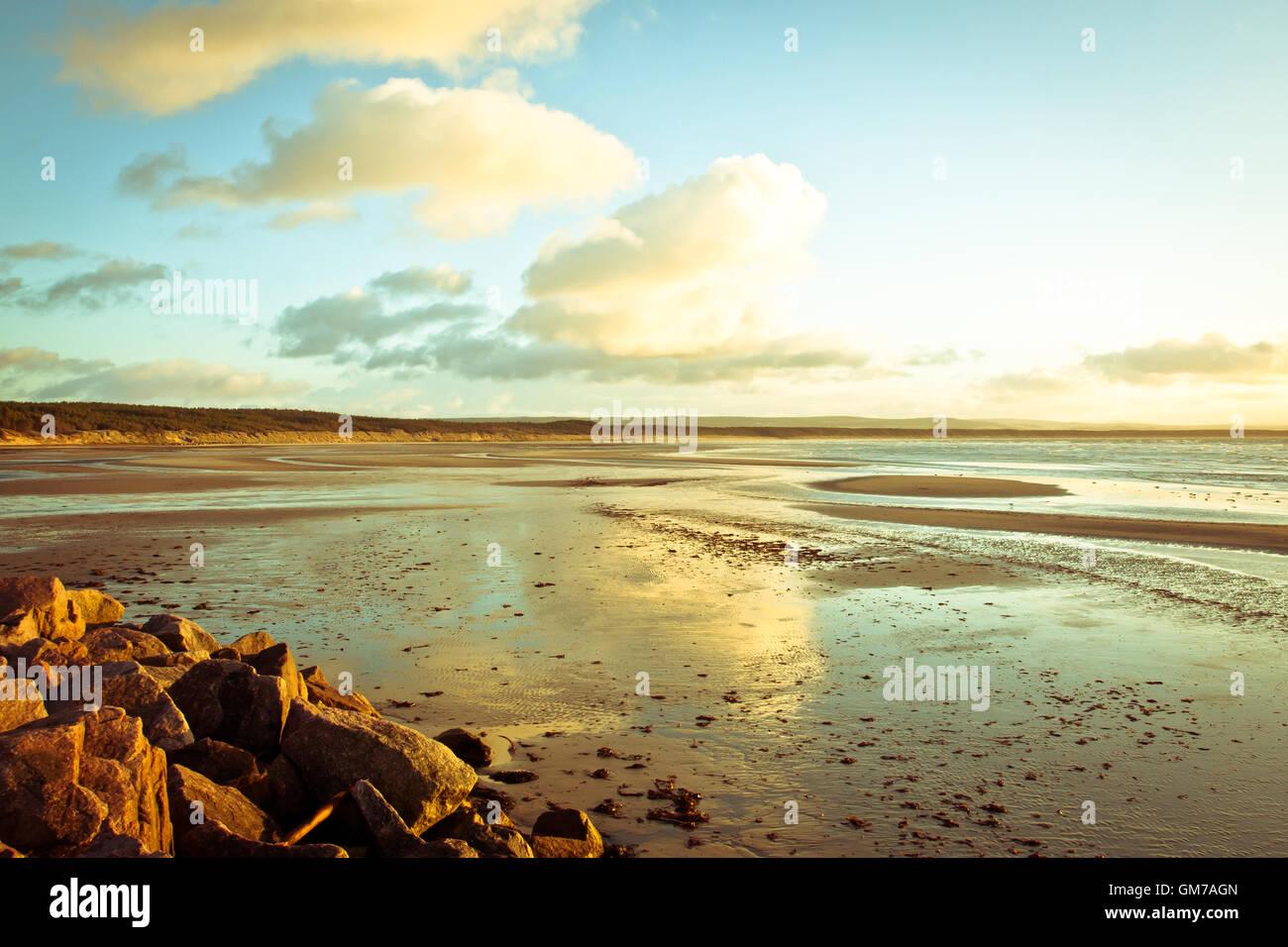 Burghead beach - Stock Image