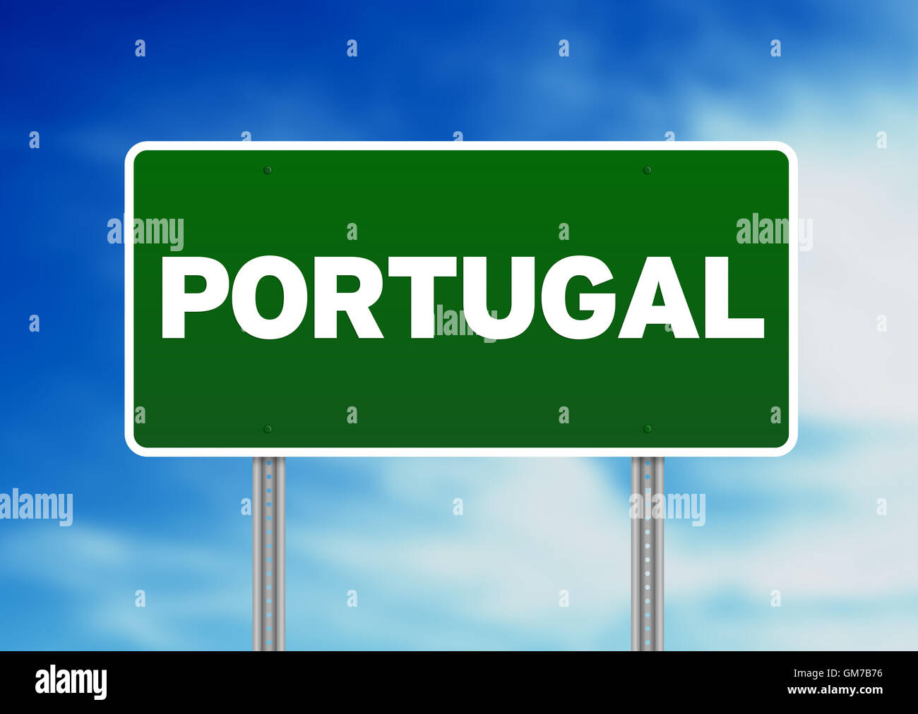 Portugal Highway  Sign - Stock Image