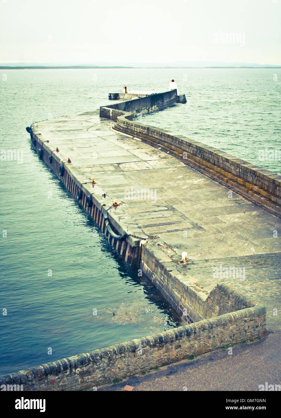 Scottish harbour - Stock Image