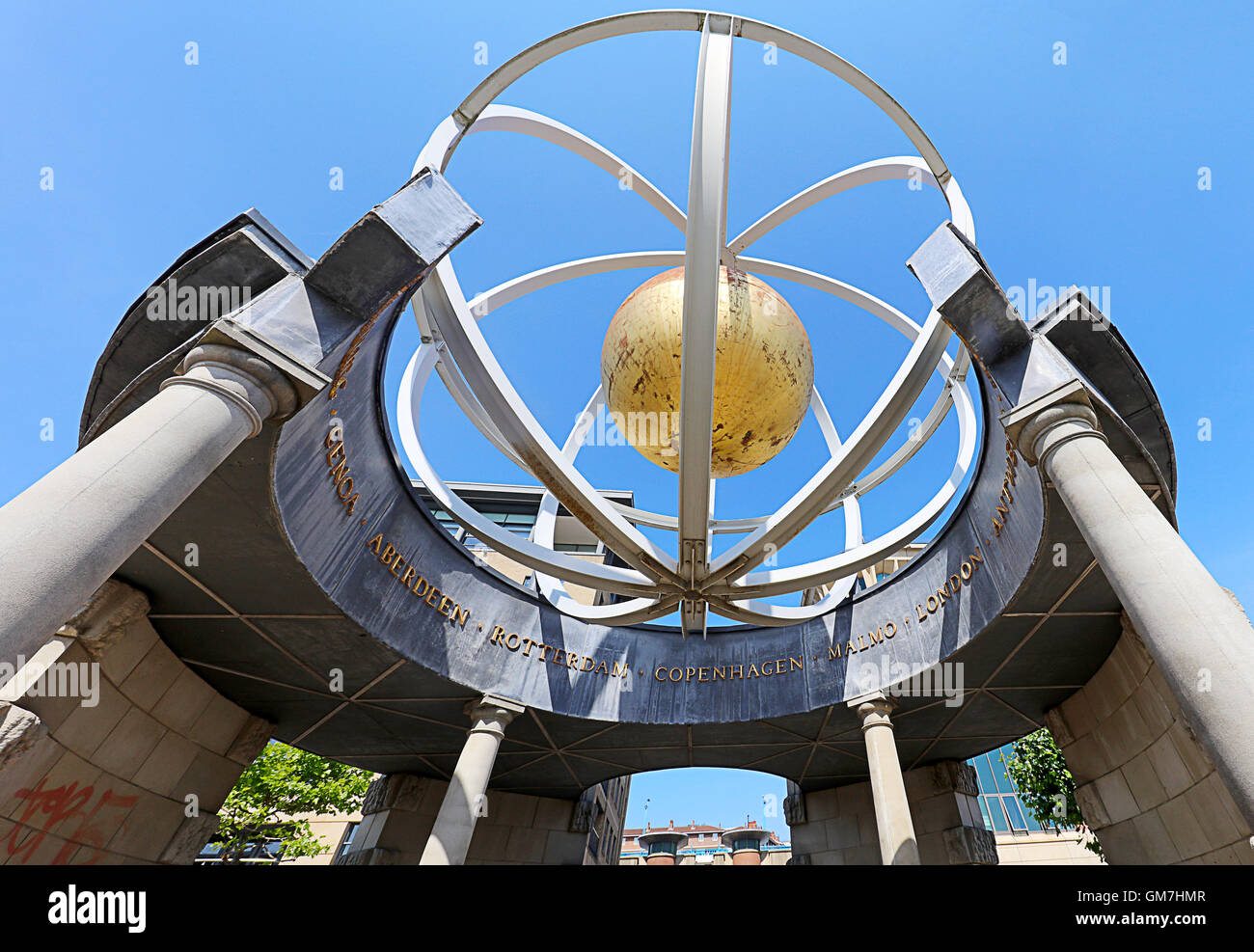 Swirle Pavilion (1998) Sculptor- Raf Fulcher. Newcastle uponTyne - Stock Image
