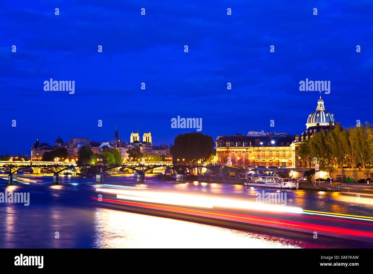 Paris at the Blue Hour - Stock Image